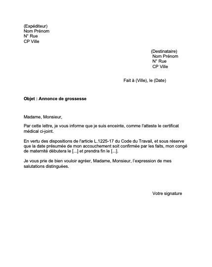 Annonce De Grossesse A L Employeur Notre Modele De Lettre Mise A Jour 2021