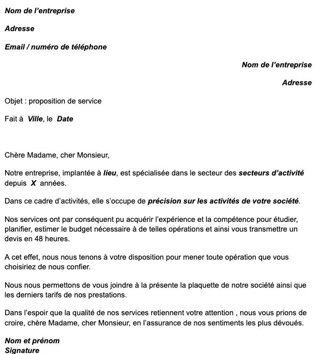Proposition De Service Notre Modele Gratuit Word Et Pdf Mise A Jour 2021
