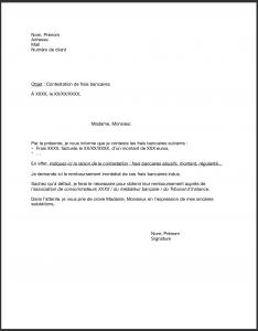 lettre contestation frais bancaires