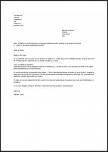 courrier resiliation assurance habitation