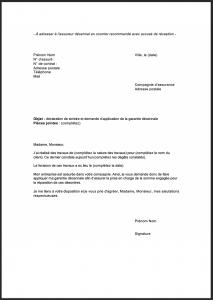 lettre declaration sinistre decennale