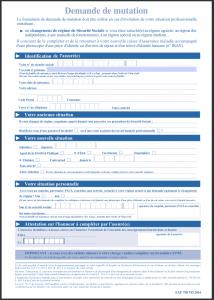 formulaire demande mutation cpam 1