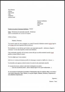 lettre type declaration secheresse assurance