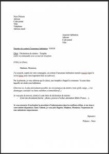 lettre type declaration sinistre tempete 1