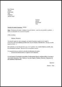 modele lettre casse portable assurance 1