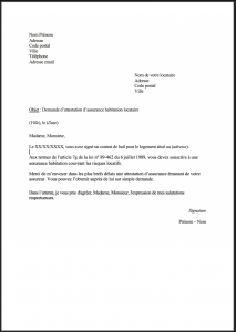 proprietaire demande attestation assurance risques locatifs 1