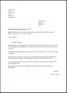 modele lettre resiliation assurance auto 2