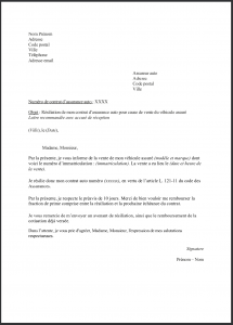 modele lettre resiliation assurance auto 5
