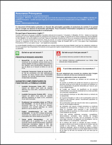 document informations prevoyance pro banque populaire