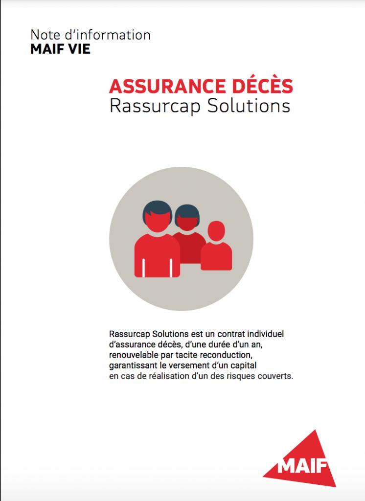 assurance deces maif rassurcap solutions